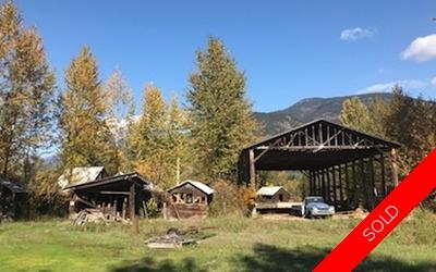 5 ACRES OF ALR LAND OUTBUILDINGS JUST 2 MINUTES FROM TOWN LAND with OUTBUILDINGS for sale:    (Listed 2018-10-18)