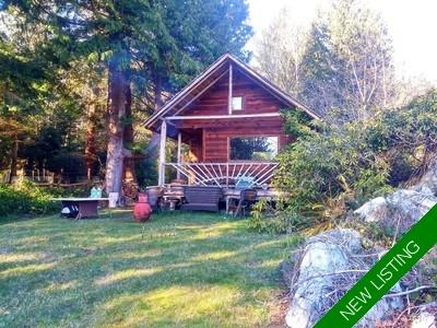 NORTH THORMANBY ISLAND COTTAGE ON 10 ACRES Cabin for sale:  1 bedroom 200 sq.ft. (Listed 2018-11-03)